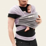 JPMB - baby wrap lavender light grey action